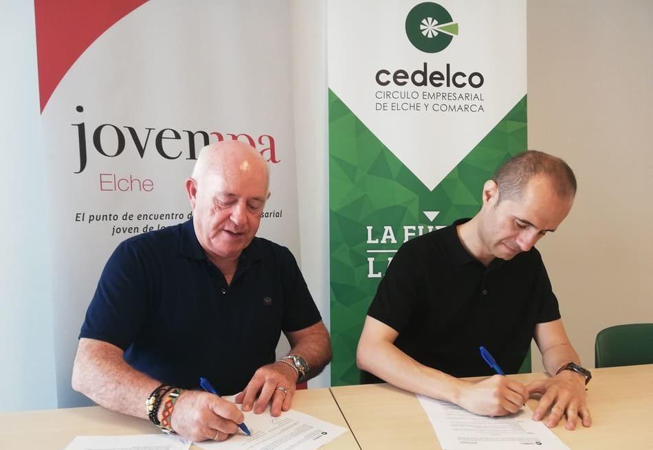 Cedelco y Jovempa Elche firman un convenio para poner en valor al empresariado de la comarca