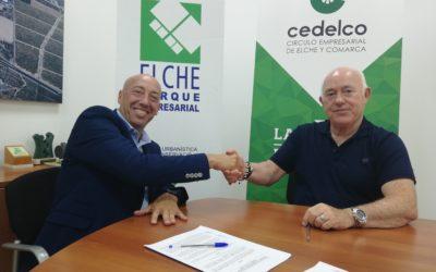 Cedelco y Elche Parque Empresarial firman un convenio para potenciar la empresa en la comarca