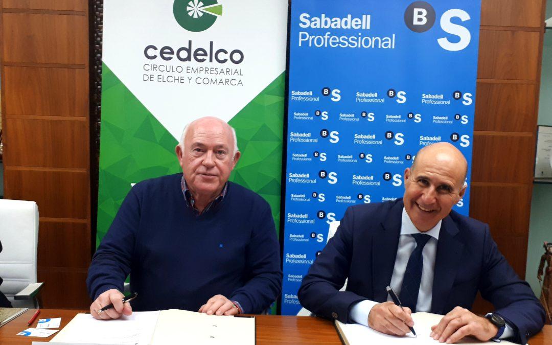 El Círculo Empresarial de Elche y Comarca y Banco de Sabadell firman convenio de colaboración