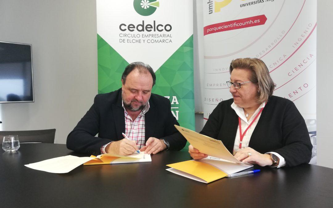 El PCUMH y CEDELCO firman un convenio para impulsar el desarrollo de innovación abierta
