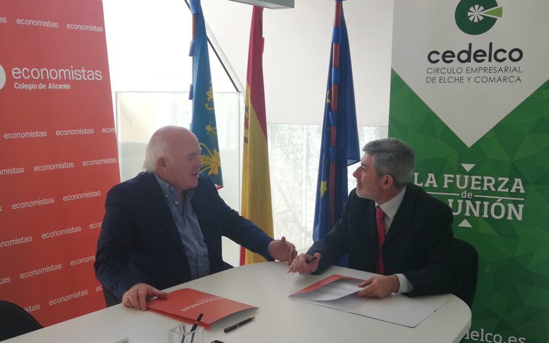 Cedelco firma un convenio con el Colegio de Economistas de Alicante