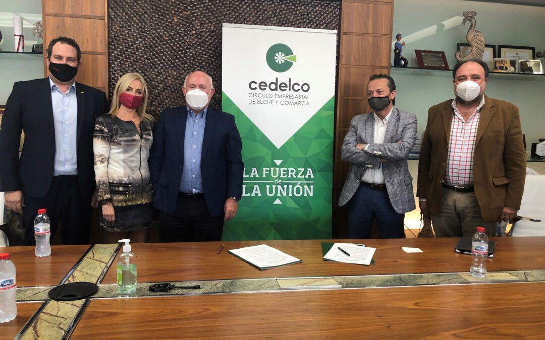 El Círculo Empresarial de Elche y Comarca y MÁSMÓVIL Negocios firman convenio de colaboración.